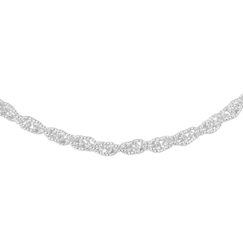 Made in Italy - Sterling Silver Necklace (Size 18), Silver wt 9.37 Gms