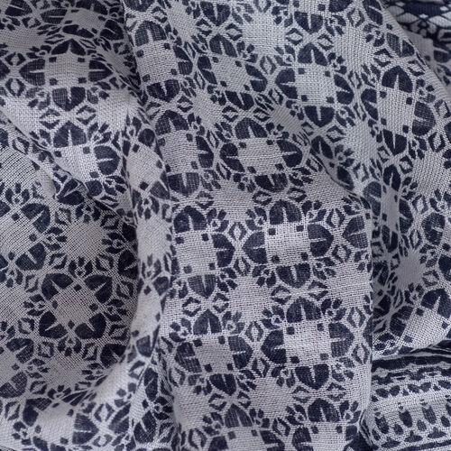 New for Season - Black and Multi Colour Damask Printed Kaftan (Size 80x70 Cm)