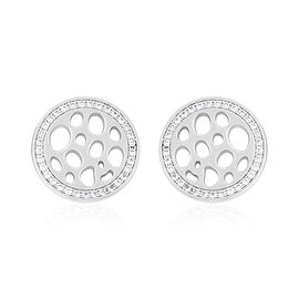 RACHEL GALLEY - Natural Cambodian Zircon Stud Earrings (with Push Back) in Rhodium Overlay Sterling