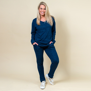 DOD - TAMSY Casual Joggers with Drawstring - Navy