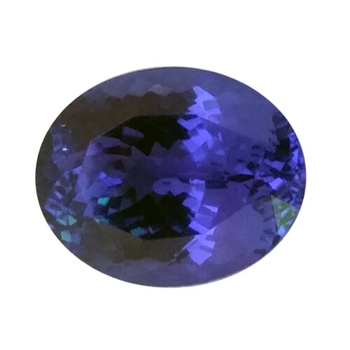 Tanzanite Oval 11.02x8.75 Faceted 3A 4.360 Cts