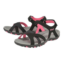Gola Cedar Walking Sandal in Black and Hot Pink Colour