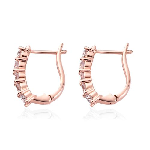 9K Rose Gold SGL Certified Pink Diamond (I2) Clasp Earrings 0.50 Ct.