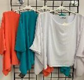 SUGARCRISP Tunics in Coral (Size up to 20) (CB 65cm - 25in)