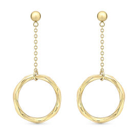 9K Yellow Gold Earring ( With Push Back)