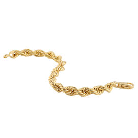 Hatton Garden Close Out-9K Yellow Gold Rope Bracelet (Size 8) with Lobster Clasp, Gold wt. 14.39 Gms