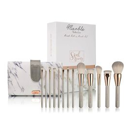 Soul Beauty: Marble Collection Limited Edition Brush Roll & 13 Brushes