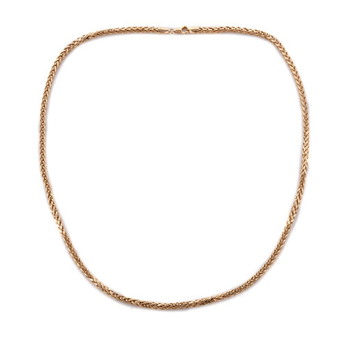 Super Auction- Royal Bali Collection 9K Yellow Gold Foxtail Necklace (Size 20), Gold wt 8.86 Gms.