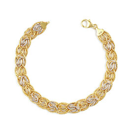 Italian Made 9K Yellow Gold Fancy Curb Bracelet (Size 7+1 inch), Gold Wt. 8.49 Gms