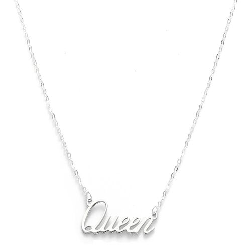 Viale Argento Sterling Silver QUEEN Necklace (Size 18)