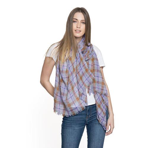 Designer Inspired New for Season Multi Colour Checks Pattern Scarf (Size 180x70 Cm)