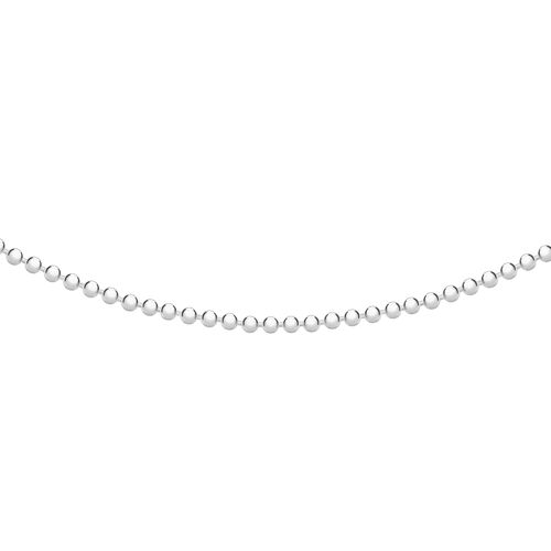 Sterling Silver Fine Ball Bead Chain (Size 18)