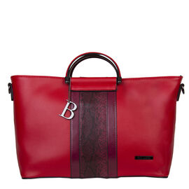 Bulaggi Collection- Fleur Handbag (Size 34x24x12 Cm) - Red