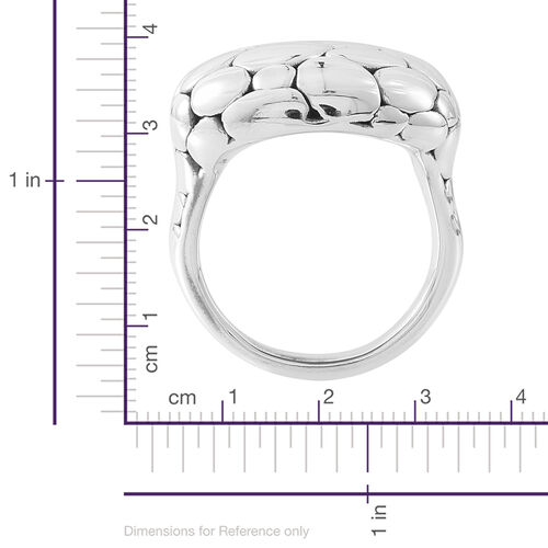 Vicenza Collection- Designer Inspired Sterling Silver Pebble Ring, Silver wt. 7.61 Gms.