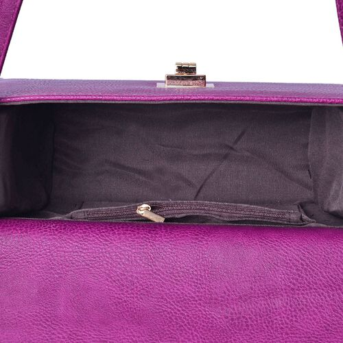 Marylebone Classic Deep Purple Colour Crossbody Bag with Adjustable and Removable Strap (Size 27x20x9 Cm)