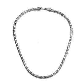 Royal Bali Collection- Handmade Sterling Silver Necklace (Size 20), Silver wt 51.68 Gms