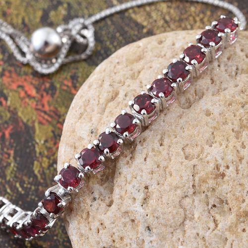 Arizona Anthill Garnet (Rnd) Adjustable Bracelet (Size 6.5 to 9) in Platinum Overlay Sterling Silver 2.000 Ct.