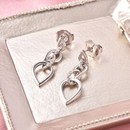 Rachel Galley Love Link Collection - Rhodium Overlay Sterling Silver Dangle Earrings