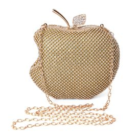 Epic Friday Doorbuster - Apple Clutch Bag with Detachable Shoulder Chain Strap and Toggle Clip Closu