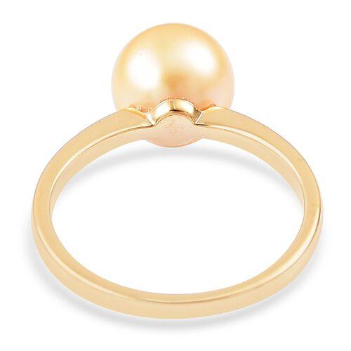 ILIANA 18K Yellow Gold AAA South Sea Golden Pearl (Rnd 10.5-11mm) Ring