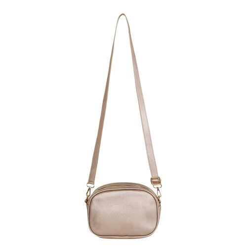 Kris Ana Crossbody Bag with Detachable Strap - Rose Gold