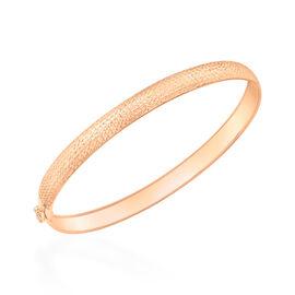 Italian Made 9K Rose Gold Diamond Cut Bangle (Size 7.5 Flexible), Gold wt 2.30 Gms.