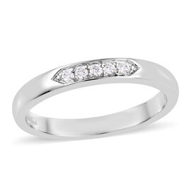 RHAPSODY 950 Platinum IGI Certified Diamond (Rnd) (VS / E-F) Ring 0.010 Ct.