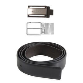 CERRUTI 1881 Leather Belt With Two Buckles