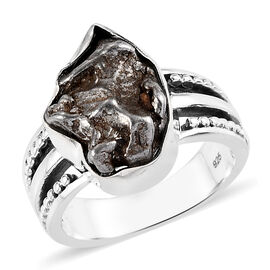Artisan Crafted : Meteorite Ring in Sterling Silver 12.00 Ct.