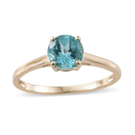 Paraibe Apatite (1.00 Ct) 9K Y Gold Ring  1.000  Ct.