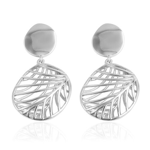 Isabella Liu Sea Rhyme Collection - Rhodium Overlay Sterling Silver Dangling Earrings (with Push Bac