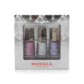 Mavala: Silver Trio - Cyber Pink, Cyber Silver & Cyber Purple
