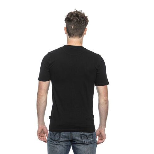 19V69 ITALIA Short Sleeve Crew Neck Logo T Shirt (Size L) - Nero/Black
