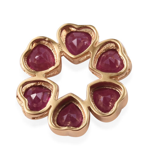 African Ruby (Hrt) Heart Pendant in 14K Gold Overlay Sterling Silver 3.750 Ct.