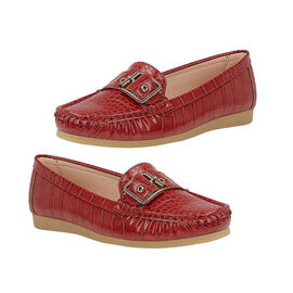 Lotus Cory Slip-on Loafer - Red