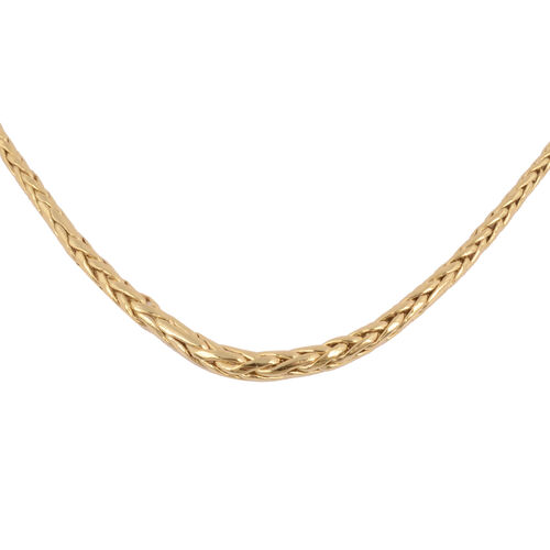 Italian Made - 9K Yellow Gold Graduated Spiga Necklace (Size 18)