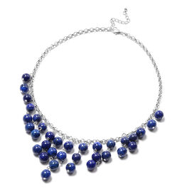 Lapis Lazuli Necklace (Size 18 with 2 inch Extender) 304.50 Ct.