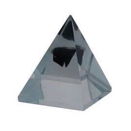 Big Shungite Orgonite Pyramid (Size 6.3x6.3x7.5 Cm)