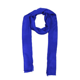 100% Cashmere Wool Royal Blue Colour Scarf (Size 200x70 Cm)