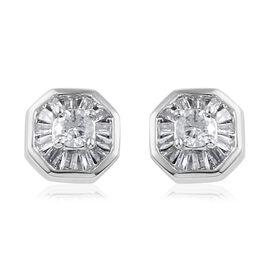 Diamond 9K W Gold Earring 0.250 Ct.