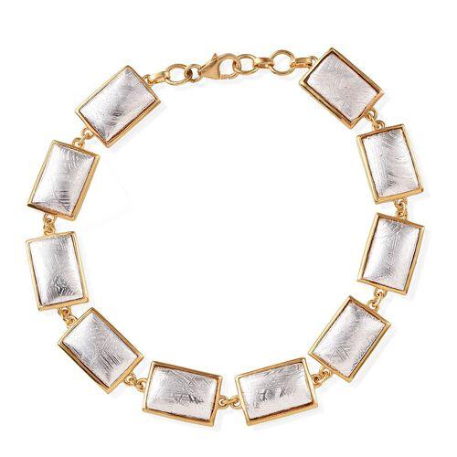 Meteorite (Bgt) Bracelet in 14K Gold Overlay Sterling Silver (Size 8) 70.000 Ct. Silver wt 12.00 Gms.