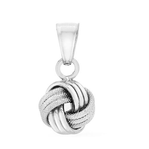 9K White Gold Knot Pendant