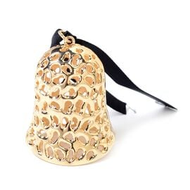 RACHEL GALLEY Lattice Collection Bell Shape Wall Door Hanging Ornament in Gold Tone