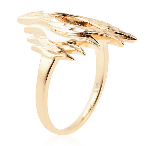 LucyQ Flame Collection - Yellow Gold Overlay Sterling Silver Ring