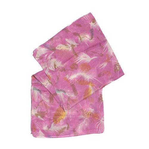 Pink and Multi Colour Scarf (Size 170x65 Cm)