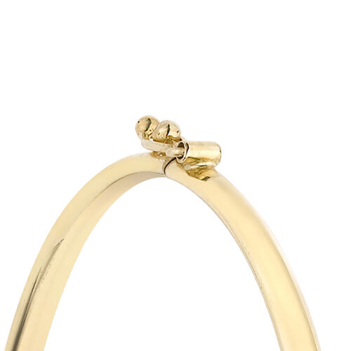 9K Yellow Gold Claddagh Bangle (Size 6.75), Gold wt 4.01 Gms
