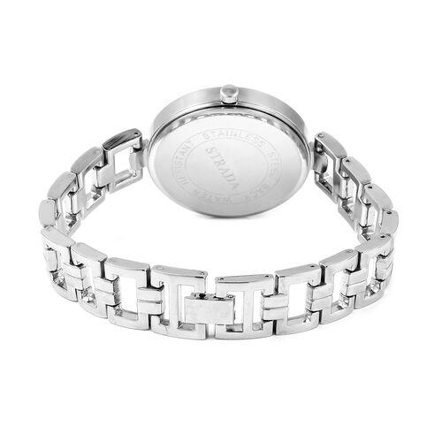 STRADA Stellar Japanese Movement Water Resistant Blue Stardust Metal Bracelet Watch in Stainless Steel