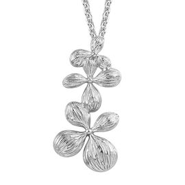 RACHEL GALLEY Flora Collection- Platinum Overlay Sterling Silver Pendant with Chain, Silver wt. 11.4