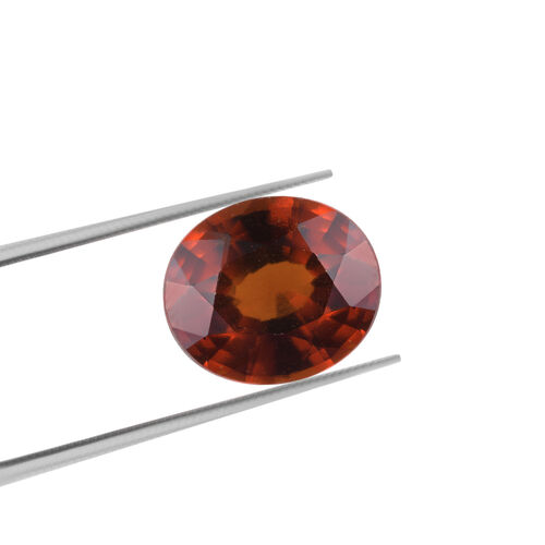 AAA Hessonite Garnet Oval 14x12 Faceted 8.65 Cts