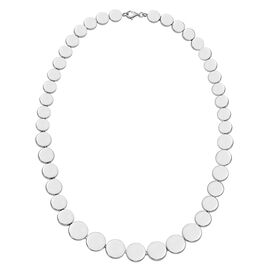 Designer Inspired -Sterling Silver Coin Necklace (Size 20), Silver wt 42.00 Gms.